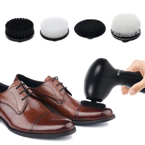 pulidor eléctrico de zapatos portátil con 4 cepillos