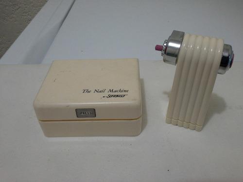 pulidor y limador de uñas vintage de los 80 de pilas