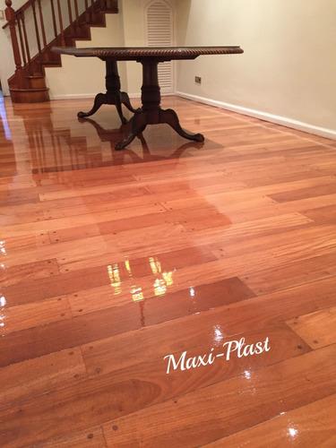 pulidos plastificado e hidrolaqueado piso de madera/ mosaico