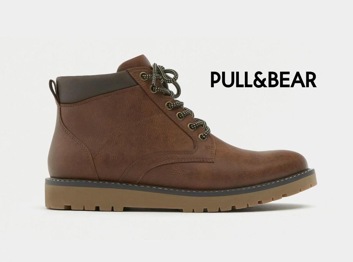 900e9c0589 pull bear borcegos zapatos botas hombre eco cuero zapatillas. Cargando zoom.