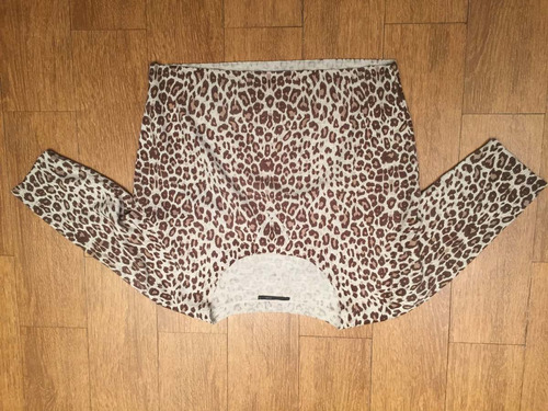 pullover dama, talle m, marca  system , animal print
