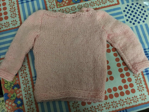 pullover tejido a mano hasta 12 meses