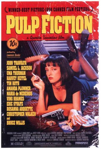 pulp fiction - uma - poster importado de 90 x 60 cm