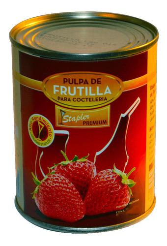pulpa de frutilla para cocteleria stapler premium lata 880g