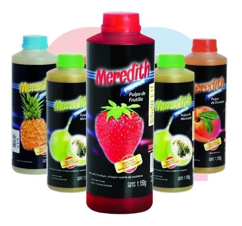 pulpa de frutilla para tragos meredith premium 1150ml!!!