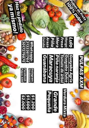 pulpas de frutas - kg a $6