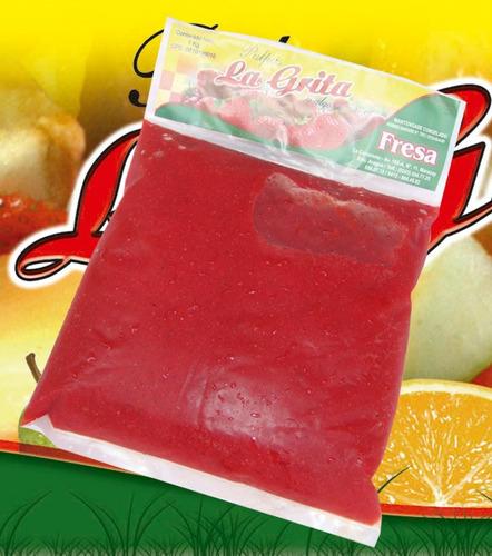 pulpas de frutas naturales