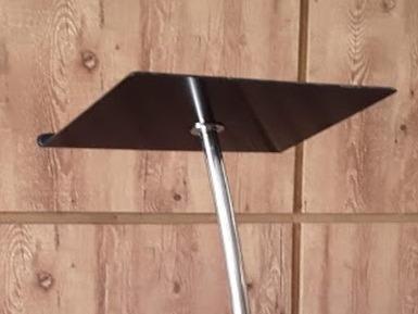 púlpito de aço inox acrílico + mesa hillsong  slim preto cur