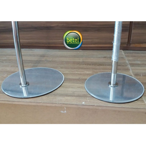 púlpito de aço inox e acrílico + mesa hillsong  slim cristal