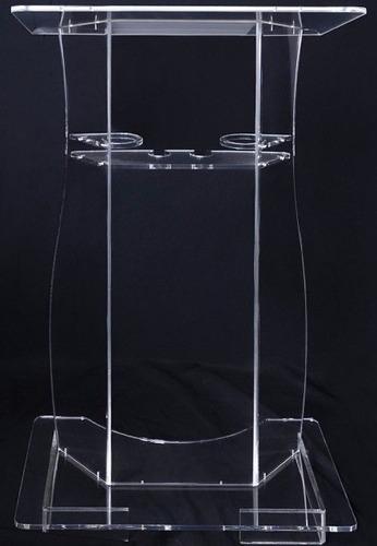 púlpito de acrílico palestras igreja com porta copos 10 mm