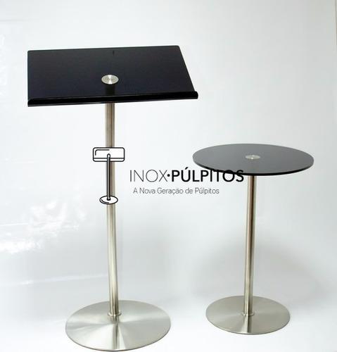 púlpito + mesa inox para igrejas - hillsong inox (acrl fume)