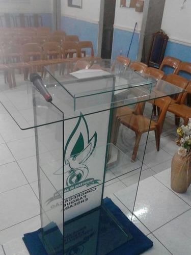 púlpito vidro a