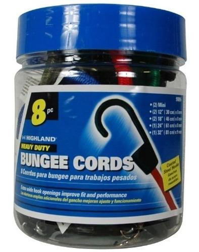 pulpo elastico amarre cuerda 8 piezas highland / musicarro