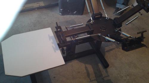 pulpo para impresion de serigrafia a 4 colores 1 estacion