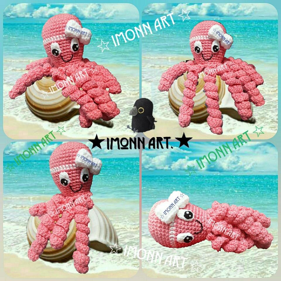 Pulpo de crochet para niños prematuros | CrochetyAmigurumis.com | 960x960