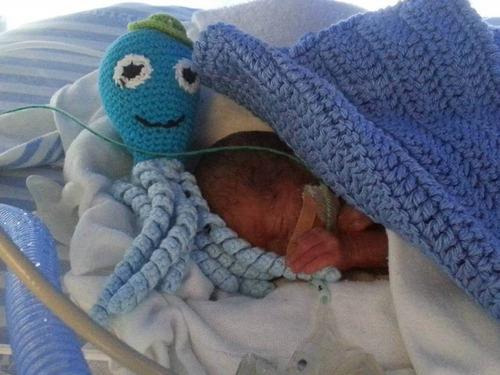 pulpos tejidos a crochet bebes prematuros
