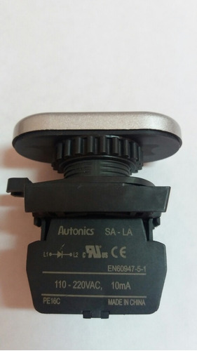 pulsador doble iluminado autonics