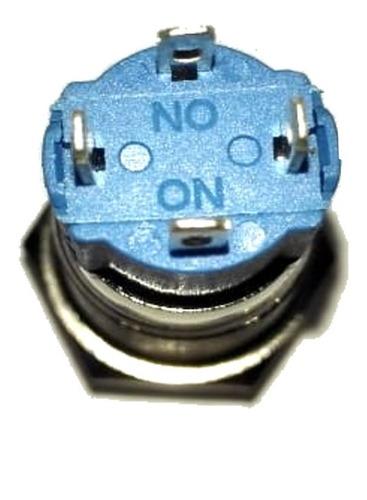 pulsador metalico 12mm led blanco sin retencion - cara alta