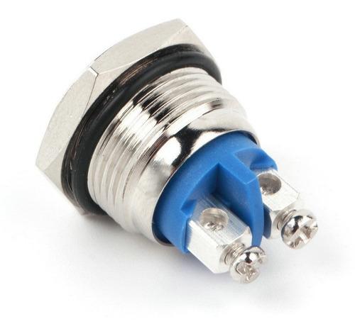 pulsador metalico antibandalismo - 16mm - normal abierto