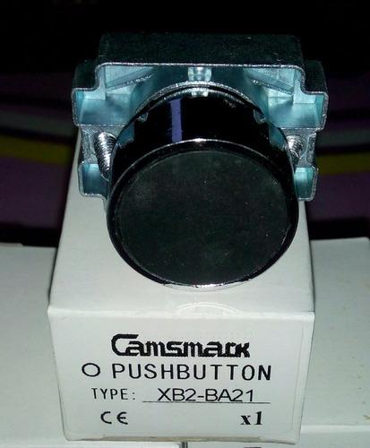 pulsador no rasante metálico para tablero de control 22mm