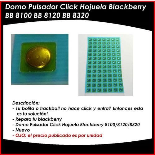 pulsador para trackball blackberry 8100 8220 8900 9000 9630