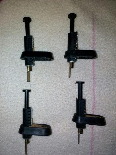pulsador universal doble tuerca para puerta maletero y capot