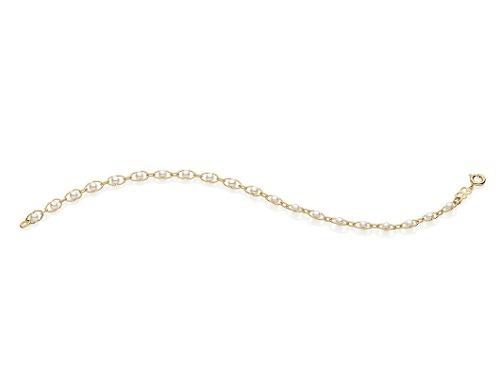 pulseira 20 pérolas 3mm, unidas ouro rommanel 551289
