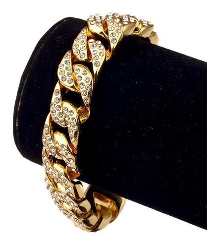 pulseira 20cm cravejado 14mm ouro 18k relogio lxbr bl40a