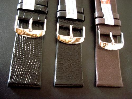 pulseira 24 mm luxo sem costura relogio pulso 100% couro