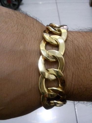 pulseira 28 gramas ouro 18 oca