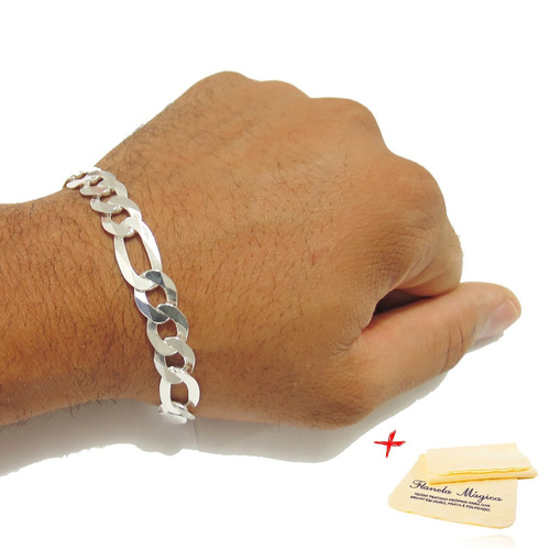 pulseira 3x1 prata 925k masculina 3 em 1 grossa 10mm promção