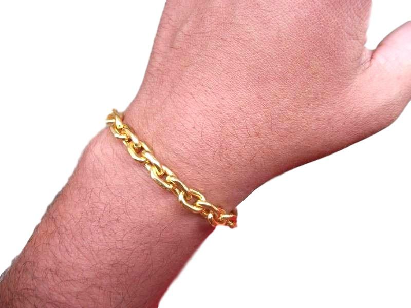 98b790d2f22 pulseira 7mm banhada ouro 18k elos cartier ref  p4. Carregando zoom.