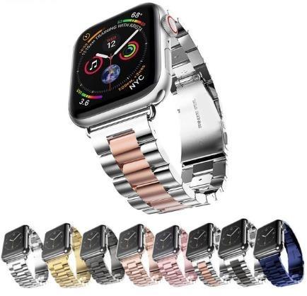f0af5c7d677 Pulseira Aço Inox Elos Para Apple Watch Series 1 2 3 4 - R  74