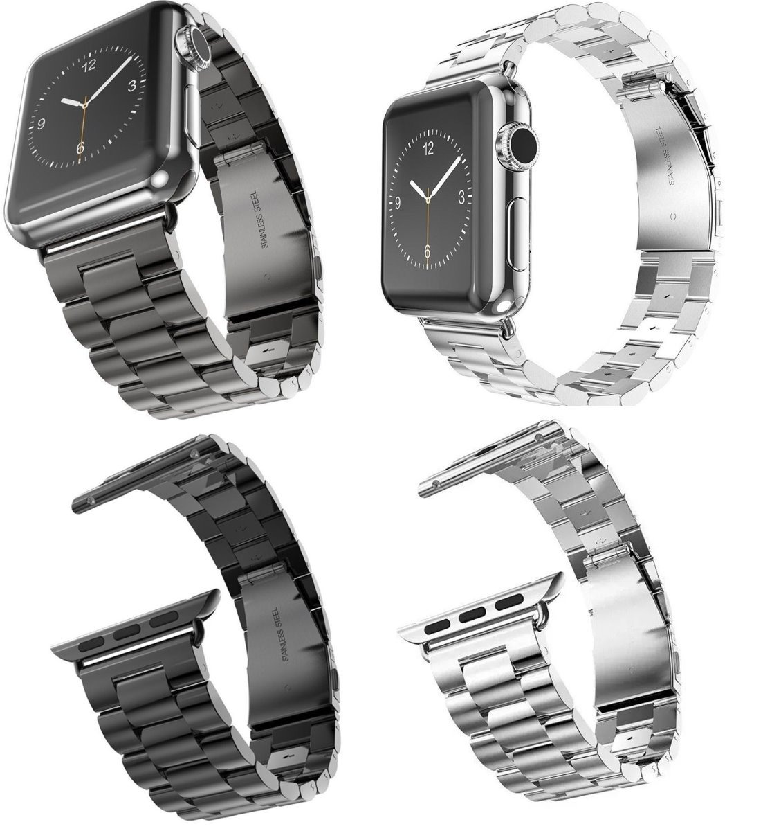 7279e5ebb9c pulseira aço inox p  relógio apple watch 42mm e 44mm. Carregando zoom.
