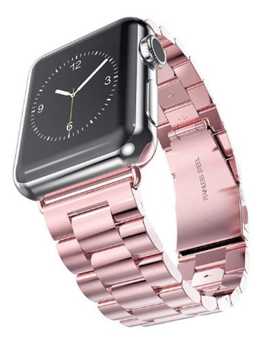 pulseira aço inox para apple watch 42/44mm - rosê / jetech