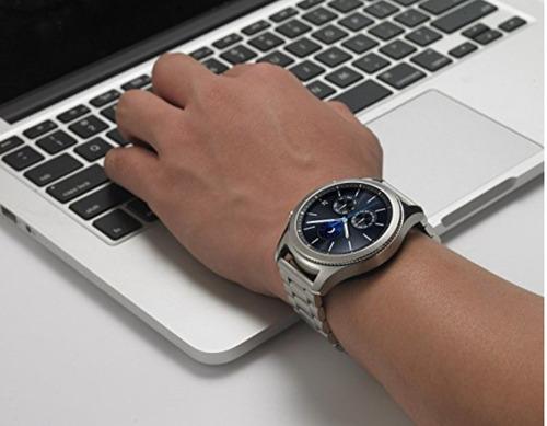 pulseira aço inoxidável p/ samsung galaxy watch 46mm - prata
