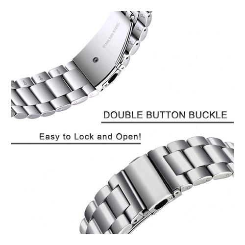 pulseira aço inoxidável samsung galaxy gear s3 prata trummir