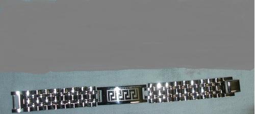 pulseira aço masculina