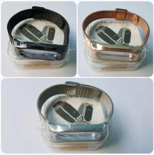 pulseira aço metal xiaomi mi band 2 na caixa original