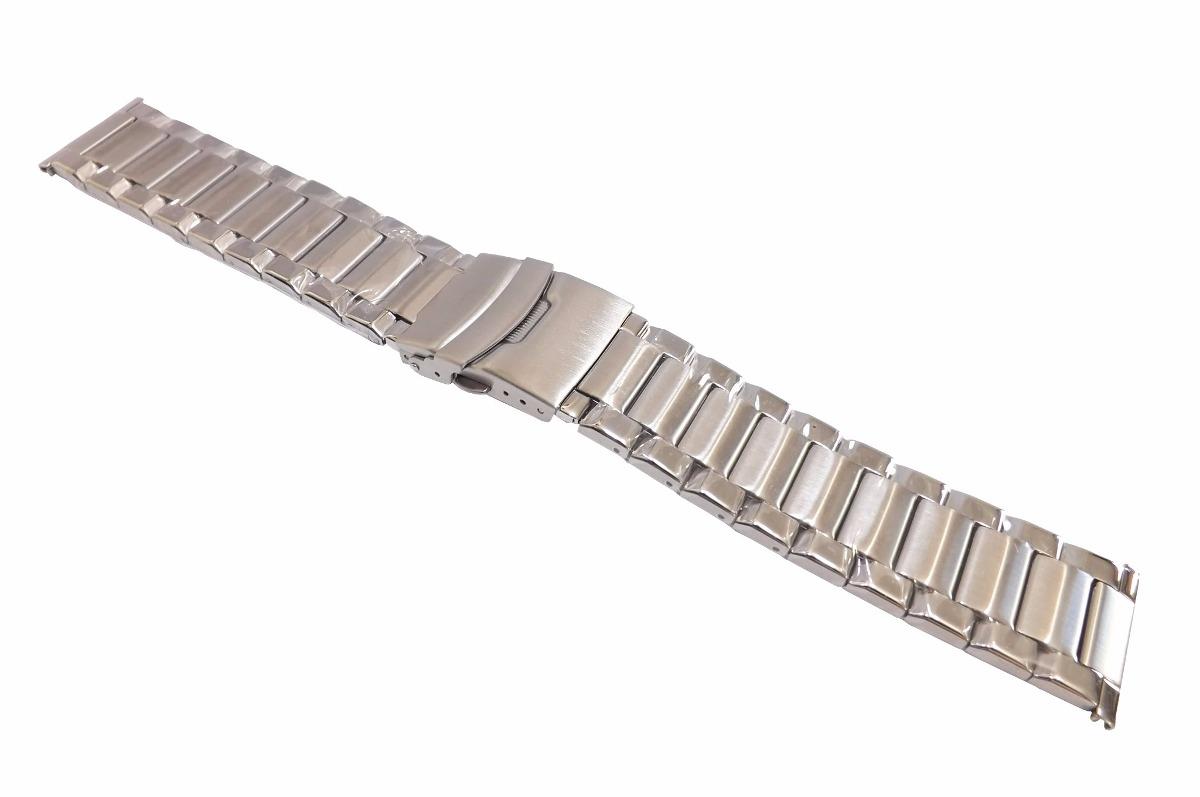 Pulseira Aço Robusta Terminal Reto 24mm P  Relógio - R  90,00 em ... a77631edc9