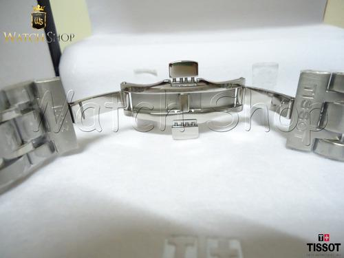 pulseira aço tissot t-trend couturier t035407a 22mm original
