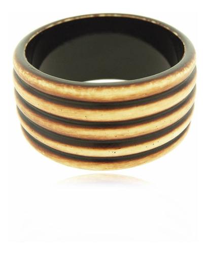 pulseira acrílica marrom e bege