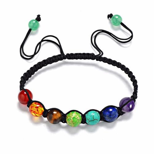 pulseira ajustável pedras dos chakras equilíbrio e harmonia
