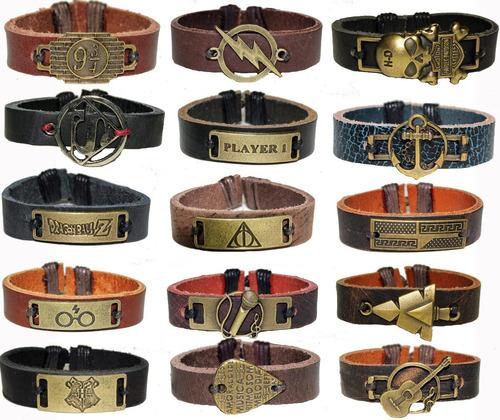 pulseira ancora bracelete masculino feminino kit 80