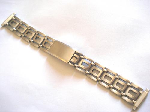 pulseira antiga aço inoxidável relógio 16 mm