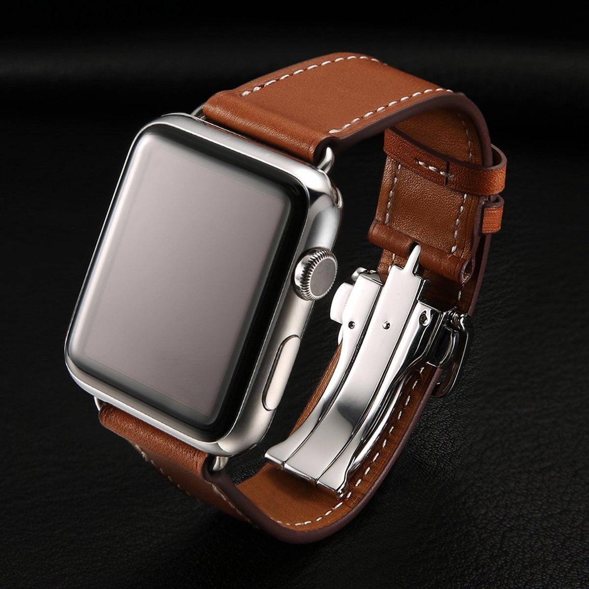 6eeeaac034e pulseira apple watch couro legitimo tour hermès 42mm 44mm. Carregando zoom.