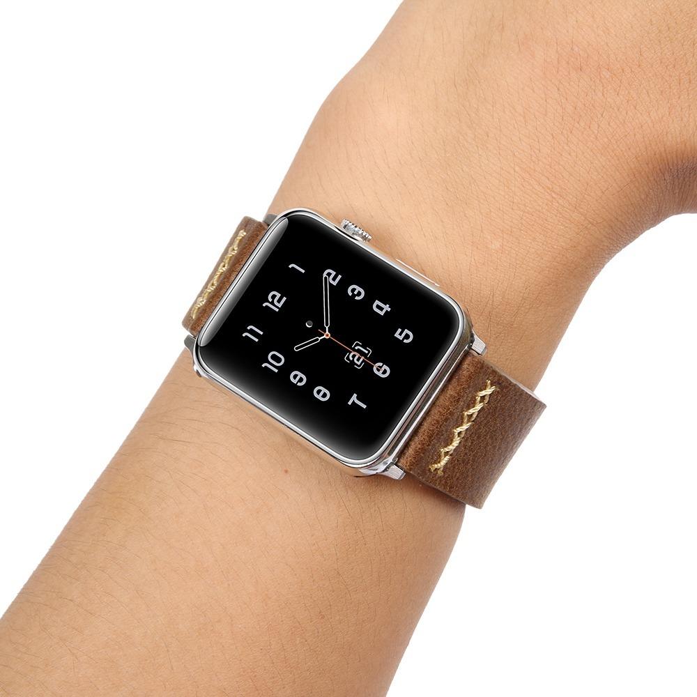 7eedc6de6b5 pulseira apple watch couro legítimo western style + brinde. Carregando zoom.