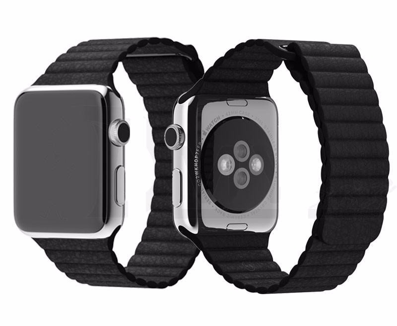 5ad511098c6 Pulseira Apple Watch Couro Loop Magnética Series 1 2 3 4 - R  73