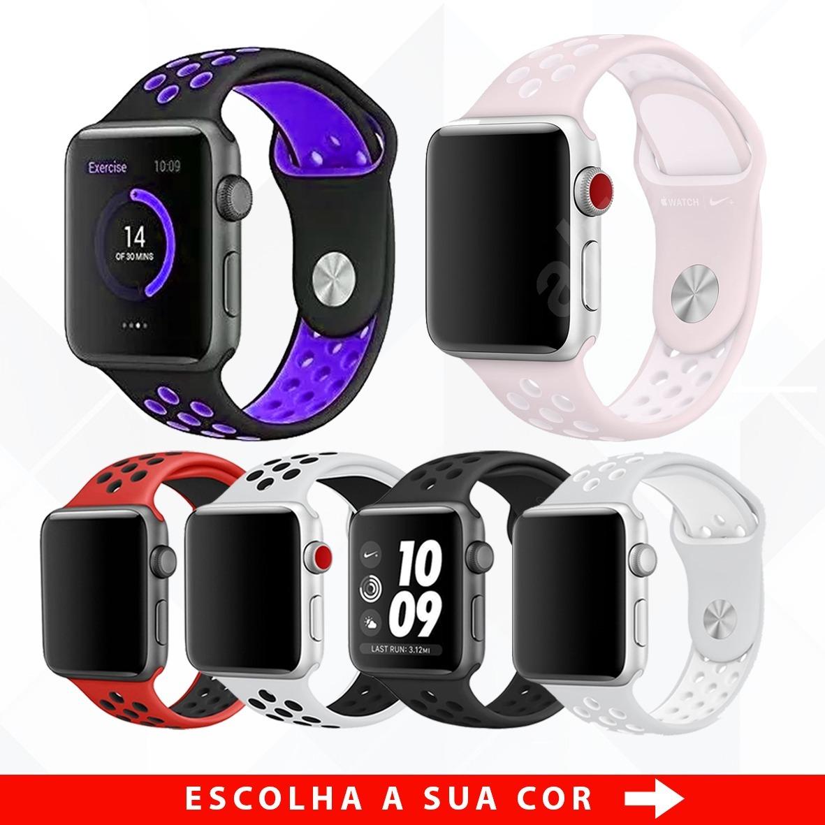 8f1bfda4399 pulseira apple watch esporte borracha 38mm 42mm séries. Carregando zoom.