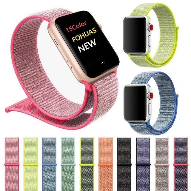 729de37b343 Pulseira Apple Watch Nylon 42 38mm Apple Watch Tecido Nylon - R  39 ...